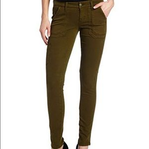 Level 99 Liza Olive Green Skinny Cargo Pants